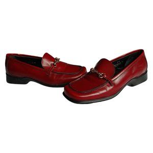 Coach Cherie Red Leather Loafers 8.5